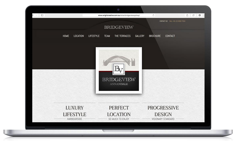 Home page with Branding: Bridgeview Sydney Responsive Designed Website