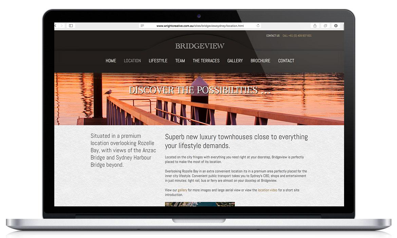 Bridgeview Sydney, Responsive Designed Website
