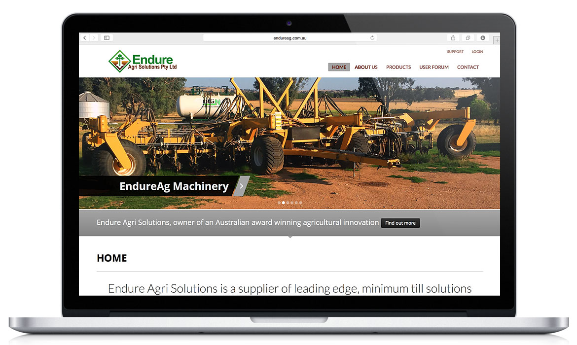 Endure Ag Responsive Designed Website