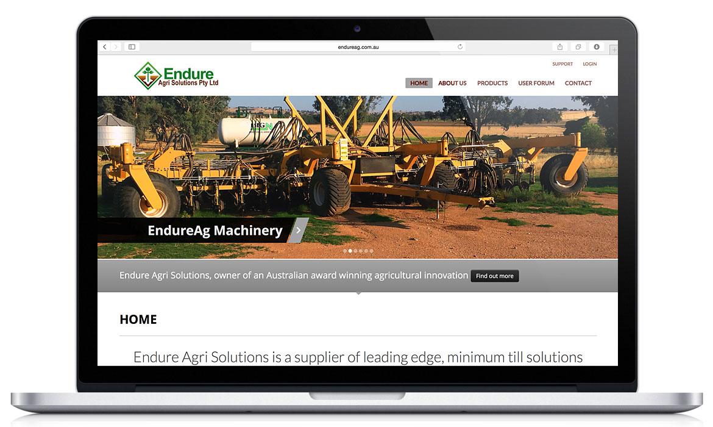 Endure Ag Responsive Designed Website