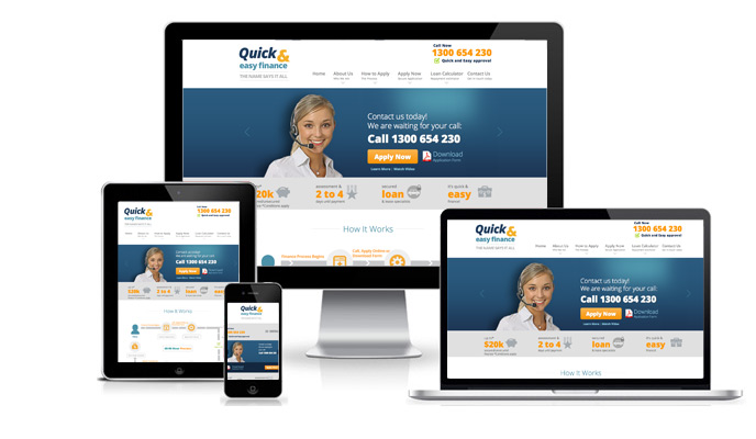 Mobile-friendly Responsive Design Quick And Easy Finance