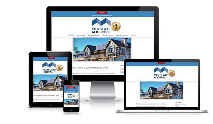 Sydney web design agency located in northern Sydney – responsive website design for mlrslateroofing