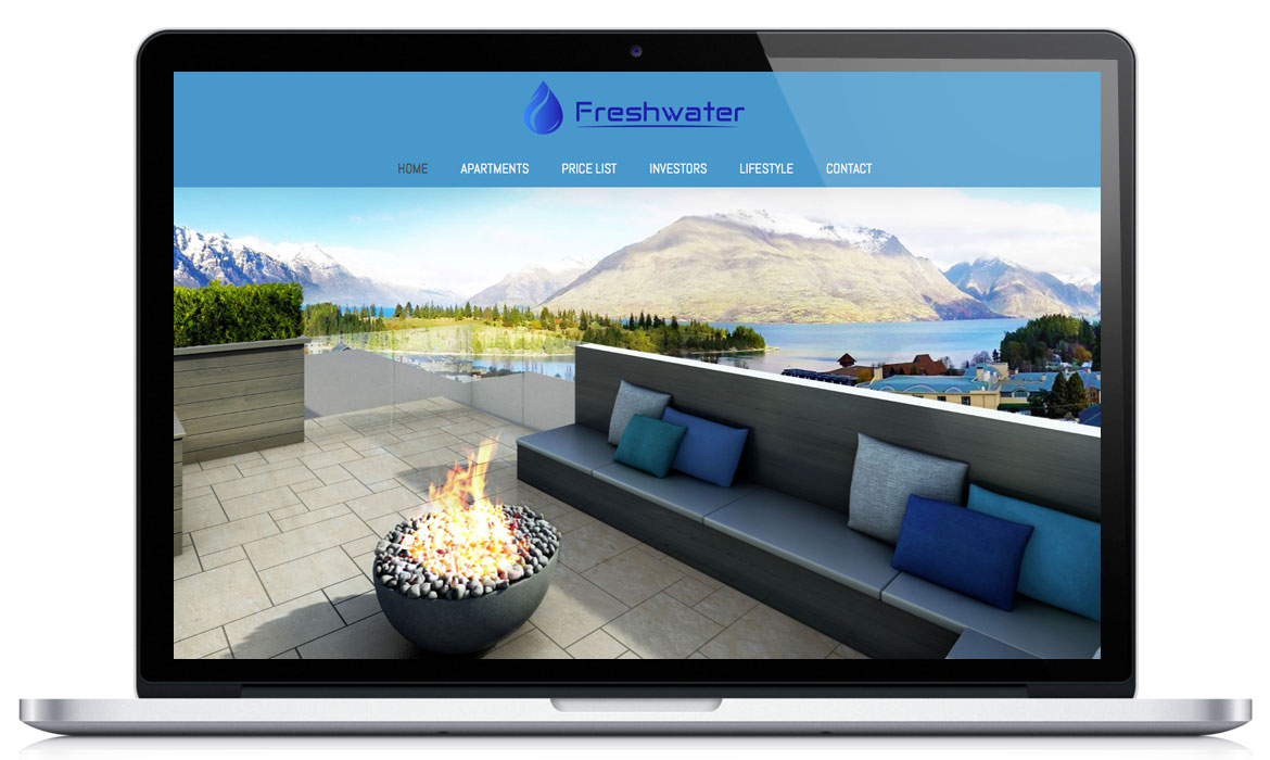 The Freshwater - Portfolio Website Design image