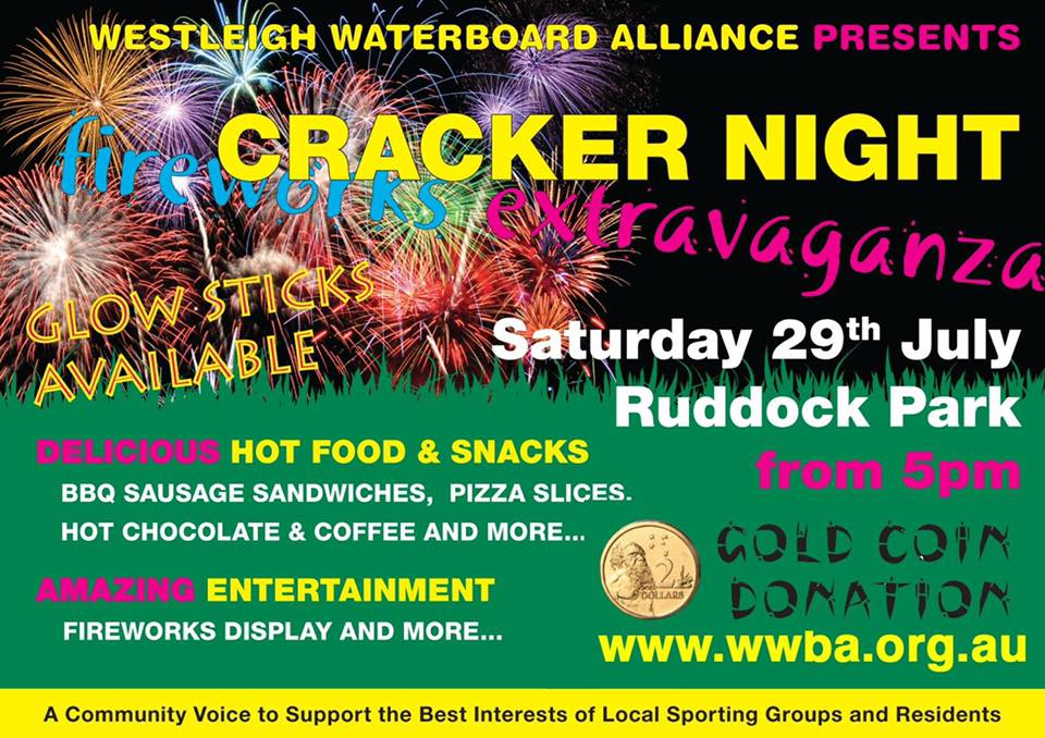 WWBA Cracker Night Fireworks event 2017