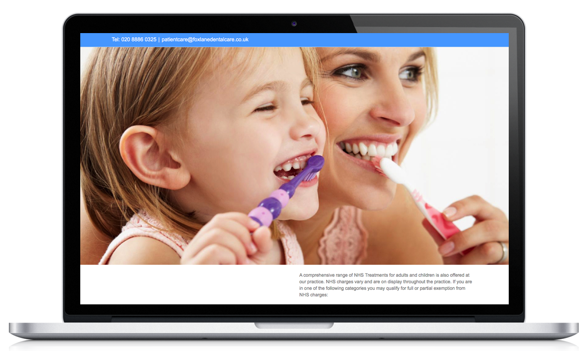 Website for Dental Practice London