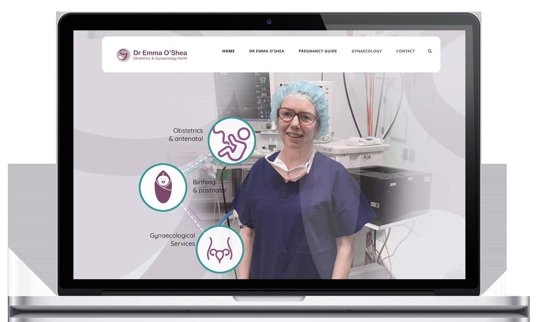 Dr Emma O'Shea for O and G North Obstetrics & Gynaecology Website for Dr Emma O'Shea
